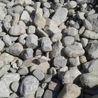"4-9"" Bulk Gray River Rock"