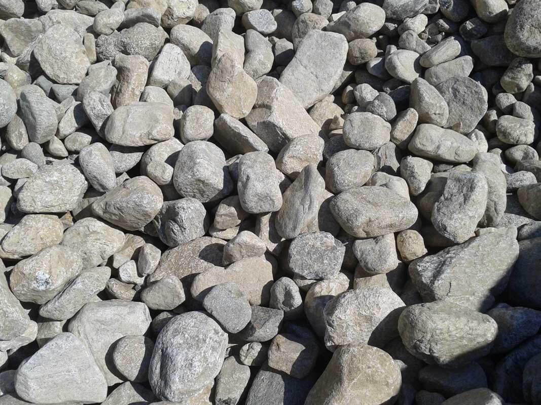 "4-9"" Bulk Gray River Rock"