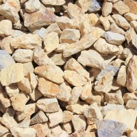 "Barstow Gold 3"" minus Decorative Crushed Rock"