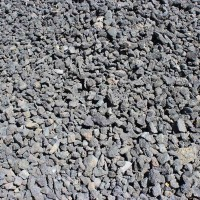 "Black Cinders 3/4"" Decorative Crushed Rock"
