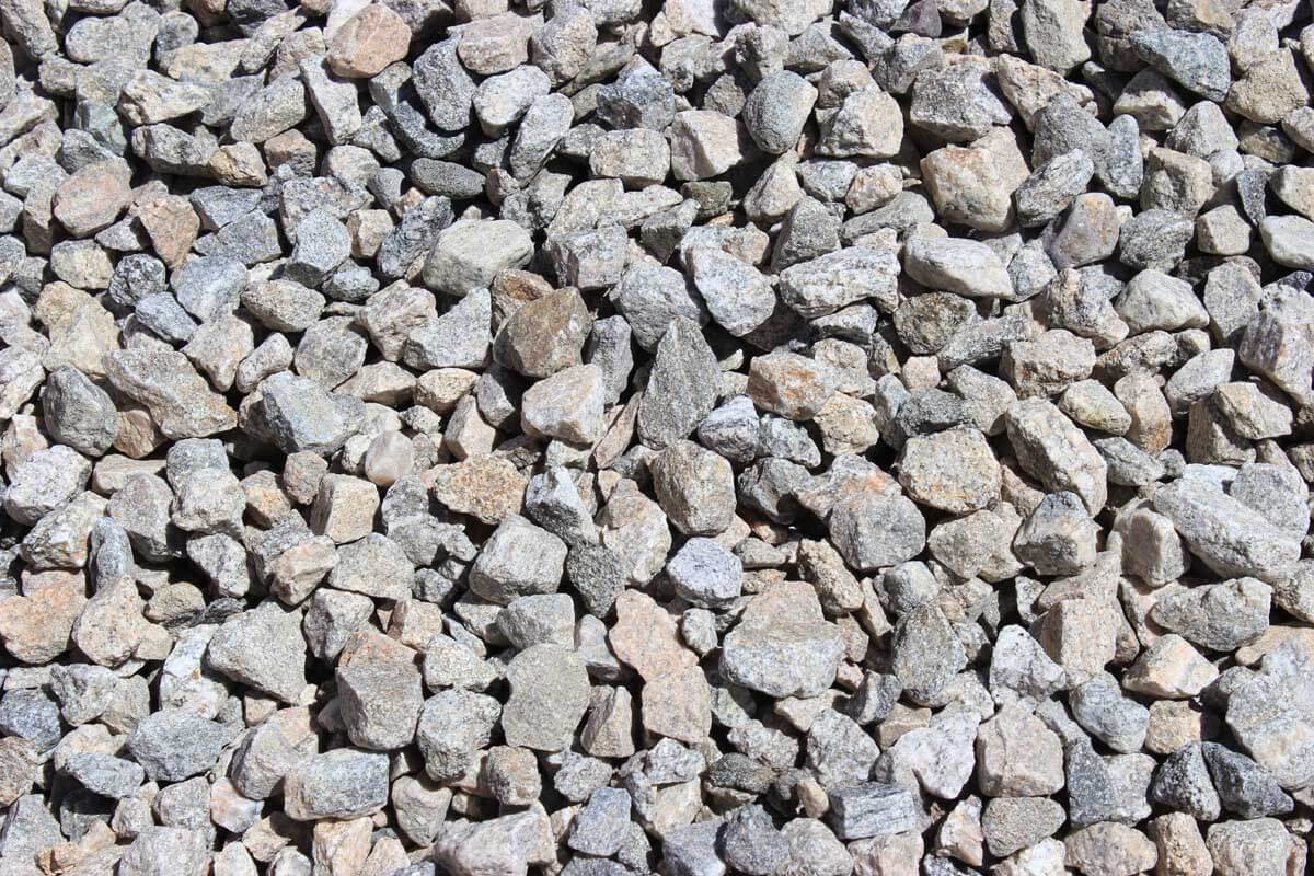 "Gray Gravel 3/4"" Decorative Crushed Rock"
