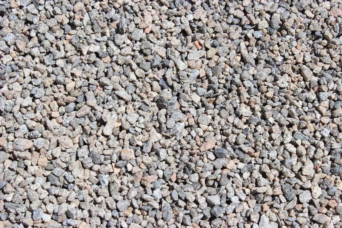 "Gray Gravel 3/8"" Decorative Crushed Rock"