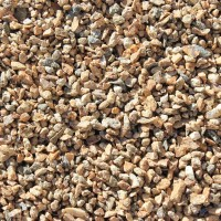 "Mojave Gold 3/8"" Decorative Crushed Rock"