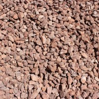 "Rebel Red 3/4"" Decorative Crushed Rock"