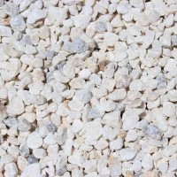 "White Rock 3/4"" Decorative Crushed Rock"