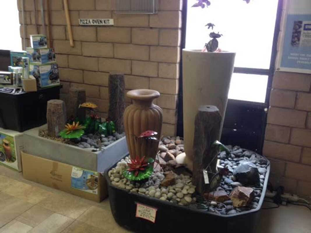 Whitewater Rock Supply Showroom Fountains