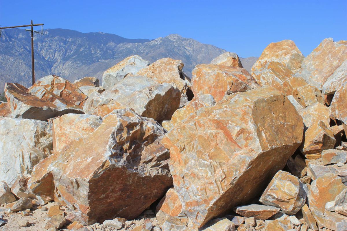 Honey Quartz Boulders